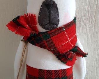 "Soft toy bear ""Blanc"" Stuffed Animal & Plushies 100% Handmade 38 cm"