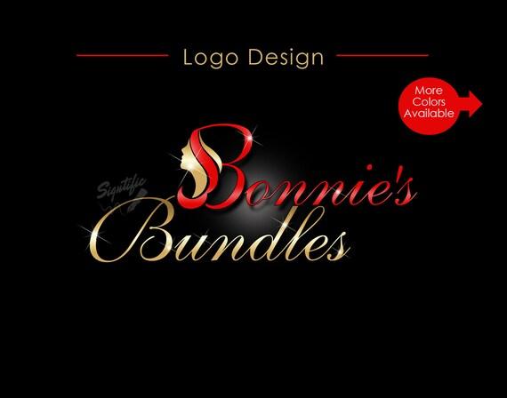 Hair Collection Logo, Hair Extension Logo, Virgin Hair Logo, Hair Bundle Logo, Small Business Logo, Clipart Logo, Hair Wigs Logo Design