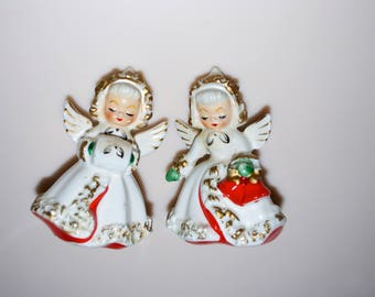 Christmas Angel Pair Couple Candle Howard Holt 1961 4""