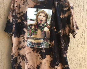 Bleached and Ripped Goonies Truffle Shuffle Shirt