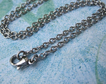 Stainless Steel Cable Chain Stainless Steel Necklace with Lobster Clasp