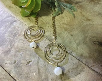 Circle Swirl Pendant Necklace