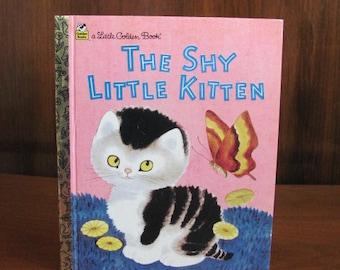 "Vintage 80's ""The Little Shy Kitten"" A Little Golden Book - 1988 - Children's Picture Book - Children's Book - 80's Children"