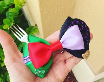 Ariel vs Ursula inspired hairbow