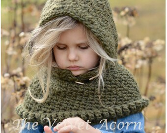 Crochet PATTERN-The Odessa Hood (6/12 months, 12/18 months, Toddler, Child, Adult sizes)
