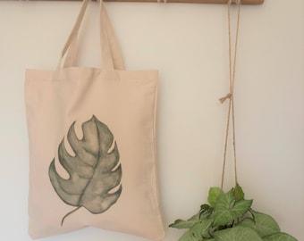 leaf bag, nature lover gift, funky tote bag, botanical bags, vegan bag, market bag, tote bag