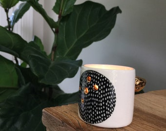 Ceramic tea light holder - tea light jar - tea light lantern - tea light candle holder - ceramics - personalised