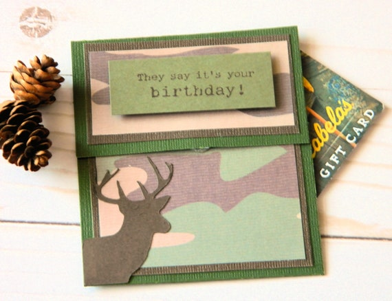 Birthday money gifts bday gift card holders camo birthday like this item bookmarktalkfo Image collections