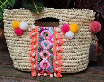 Miya's Original Bohemian Straw Bag Shoulder Bag