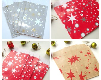 30 pockets 7cm * 12.5 cm Kraft Christmas gift bags