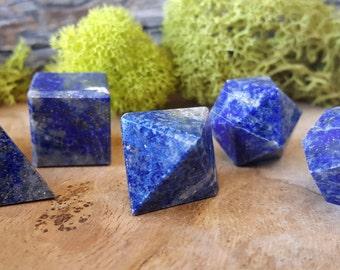 Lapis Lazuli Crystal Platonic Geometry 7 pc Set - 644