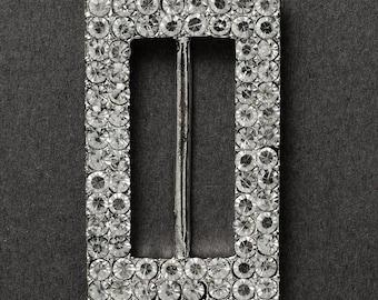 4pcs Rectangle Crystal Rhinestone Buckle, 1-1/8'' inner bar, SP-2279