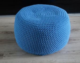 ottoman pouf crochet knitting, kids furniture, footrest