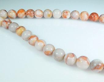 Red Line Jasper Beads, 6mm Round Beads, Natural Gemstone, High Quality, 1 Full Strand, 62 beads