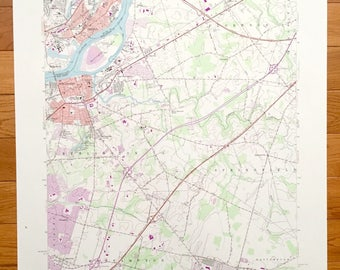 Vintage florence map Etsy