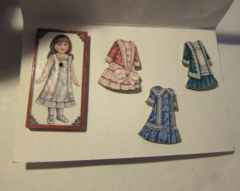 Interesting Doll Pin and Earring Set