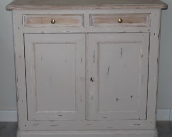 Birch 2 cabinet doors / 2 drawers restyled Shabby chic style