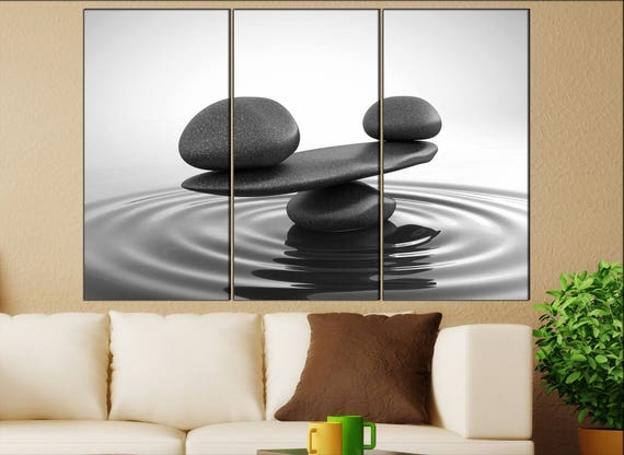 Zen stones canvas wall art   Zen stones canvas wall art art  Zen stones wall decoration Zen stones large canvas wall art
