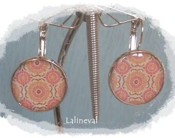 Stud Earrings floral mandala