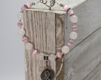 Breast Cancer Awareness - Hope - Ribbon Charm