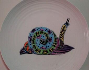 Snail Sharpie Art Plate