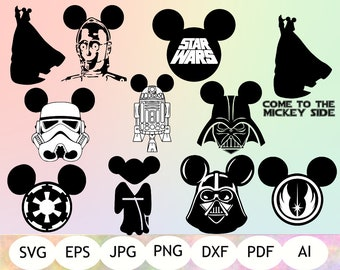 Star Wars Mickey Mouse SVG, Star Wars Printable, Instant Download