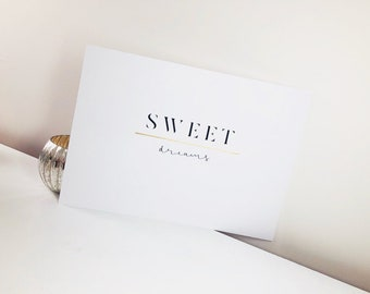 Sweet Dreams Print A3 with Embossed Detail - Choice of colours available
