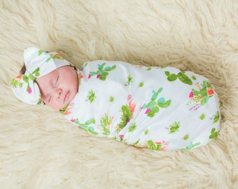 Baby Swaddle Sack, Swaddle, Sleep Sack, Cactus Baby Cocoon swaddle,Cocoon sack, Baby shower gift, Newborn Photography,baby take home outfit