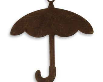 2 Pieces Umbrella Brass Blank Umbrella Stamping Blank, Vintaj Natural Brass P0066 32x29.5mm Umbrella Blank