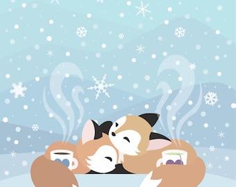 Winter Warmth - Medium or Small Art Print