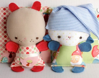 SALE Wittle Whimsy Molly and Seamus PDF Doll Pattern