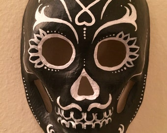 señior mambo, day of the dead mask (2014). paper maché and acrylics