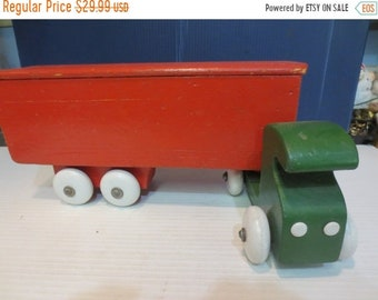 Whole Shop on Sale Vintage Large Wooden Toy Truck 15 1/2 Inches Long