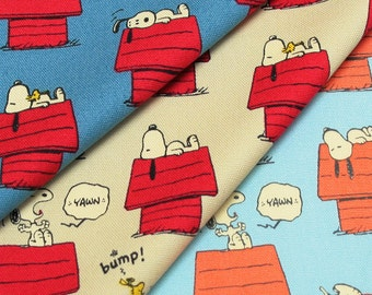 Peanuts Snoopy on His House  / Japanese Fabric 110cm x 50cm