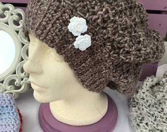 Slouch Beanie Crochet Hat