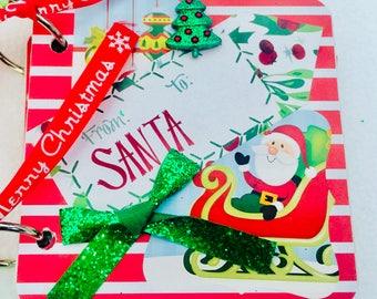 Christmas Mini Album, Christmas Scrapbook Album, Premade Album, Christmas Brag Book, Christmas Photo Album, Christmas Scrapbook, Christmas