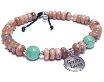 Rhodochrosite, beaded bracelet, pink bracelet, pink rhodochrosite, pink stone bracelet, bracelet, gemstone bracelet