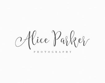 Premade Photography Logo and Watermark Calligraphy Logo Design Photography Watermark Typography Logo Style for Any Business Type - 233