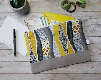 Planner pouch | notebook case | large zippered bag | bullet journal pouch | tablet sleeve | | accessory bag | leuchtturm1917 A5 pouch