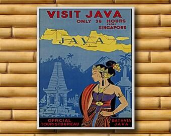 Java Art Travel Poster Wall Print Decor (AJT10)