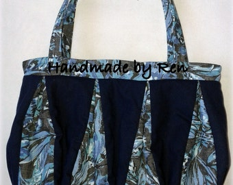 Handmade / recycled summer purse made of old cotton skirts