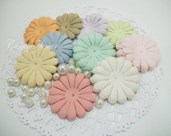 100 Variations Listing Mixed Pastel Mulberry Paper Scrapbooks Wedding Large Daisy Die Cute (700p/A)