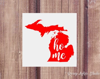 Michigan Decal, Home State Decal, State Decals, Michigan Car Decal, Michigan Love, Laptop Decal, Michigan Car Decal, Michigan Sticker, Vinyl