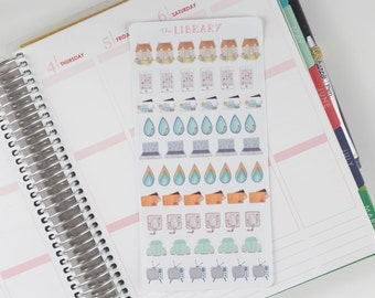 Household Bill Hand Drawn Planner Stickers Sampler, Perfect for Erin Condren, Happy Planner, Kikki K, Plum Paper, Filofax, inkwell press