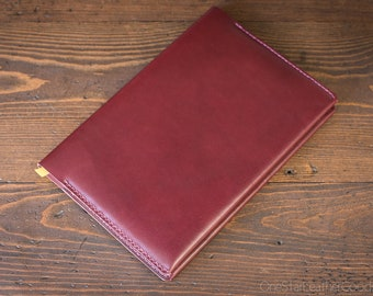 Baron Fig Confidant Plus notebook and cover (fountain pen friendly paper) - burgundy bridle leather