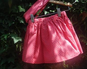 ruffled skirt and matching headband