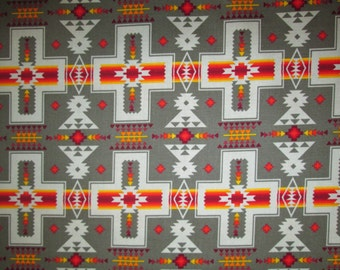 Navajo Cross Olive Orange Native American Cotton Fabric Fat Quarter or Custom Listing