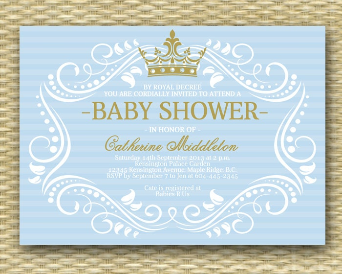 luxury of wording royal free imposing shower invitations invitation coed baby prince