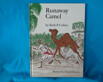 vintage 1968 Runaway Camel book by Ruth P. Collins