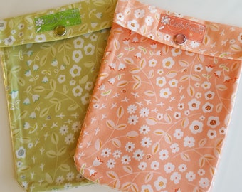 Clearance Ouch Pouch 2 Pack First Aid Organizer Clear Front Diaper Bag Car Purse Backpack Travel Medium 5x7 Melon & Lime Florals Clip Option
